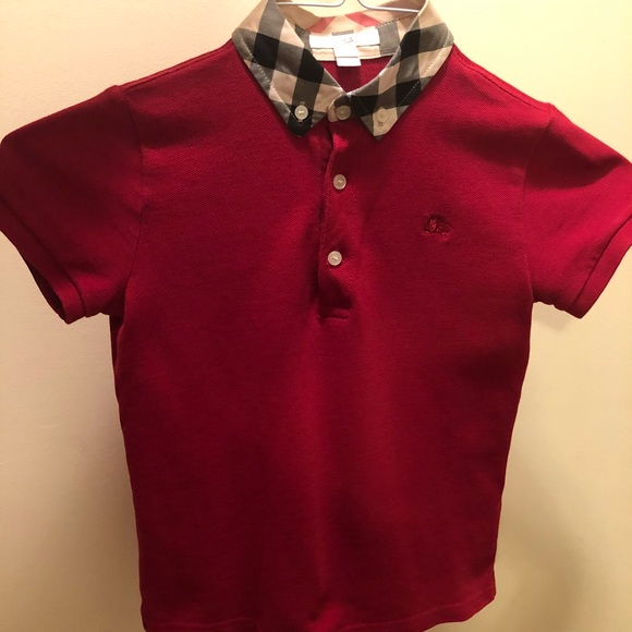 f1898b5a9122b Burberry Other - Authentic Boys Burberry William Check Collard Polo
